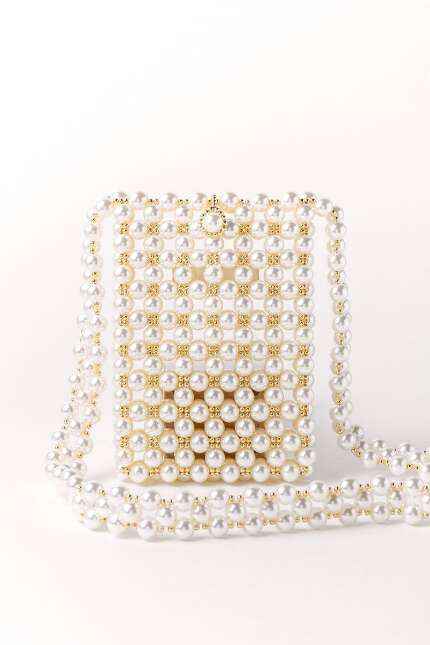 Emma Pearl Beaded Crossbody