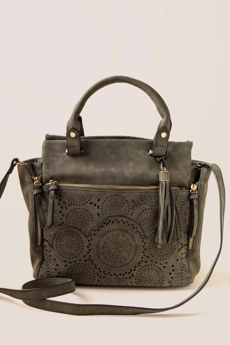 Jodee Perforated Satchel
