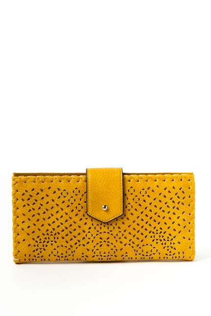 Aubrey Perforated Flat Tab Wallet