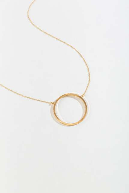 Rosabel Circle Pendant Necklace