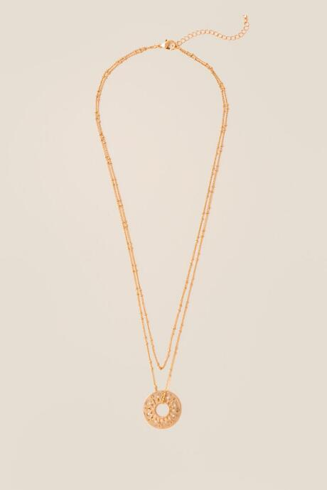 Aislynn Open Medallion Layered Necklace