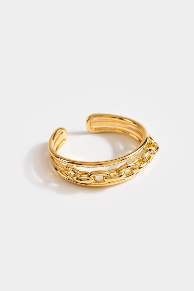 Joy Chain Link Adjustable Ring- Gold