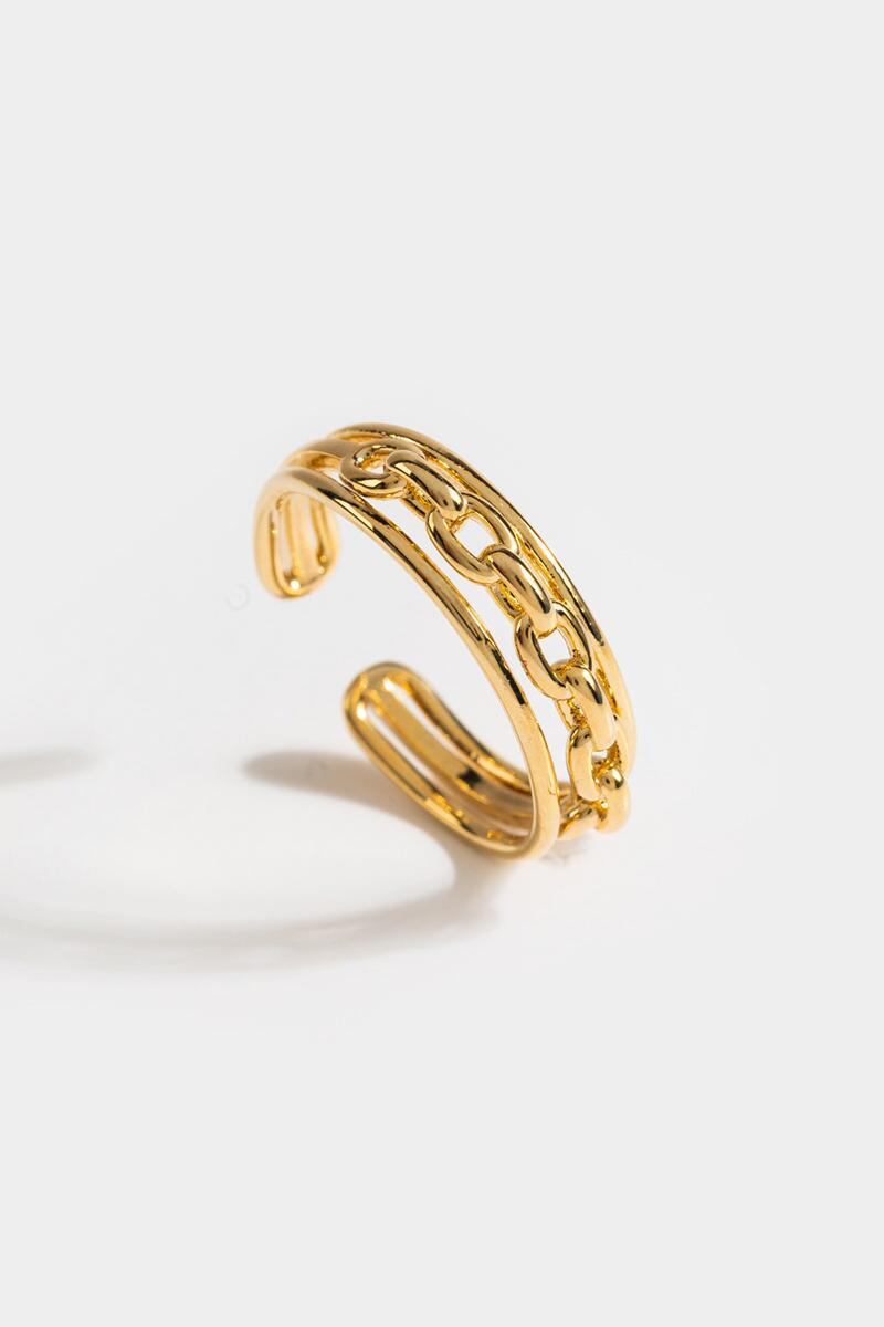 Joy Chain Link Adjustable Ring- Gold 3