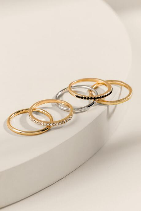Emilia Mixed Metal Stacking Rings