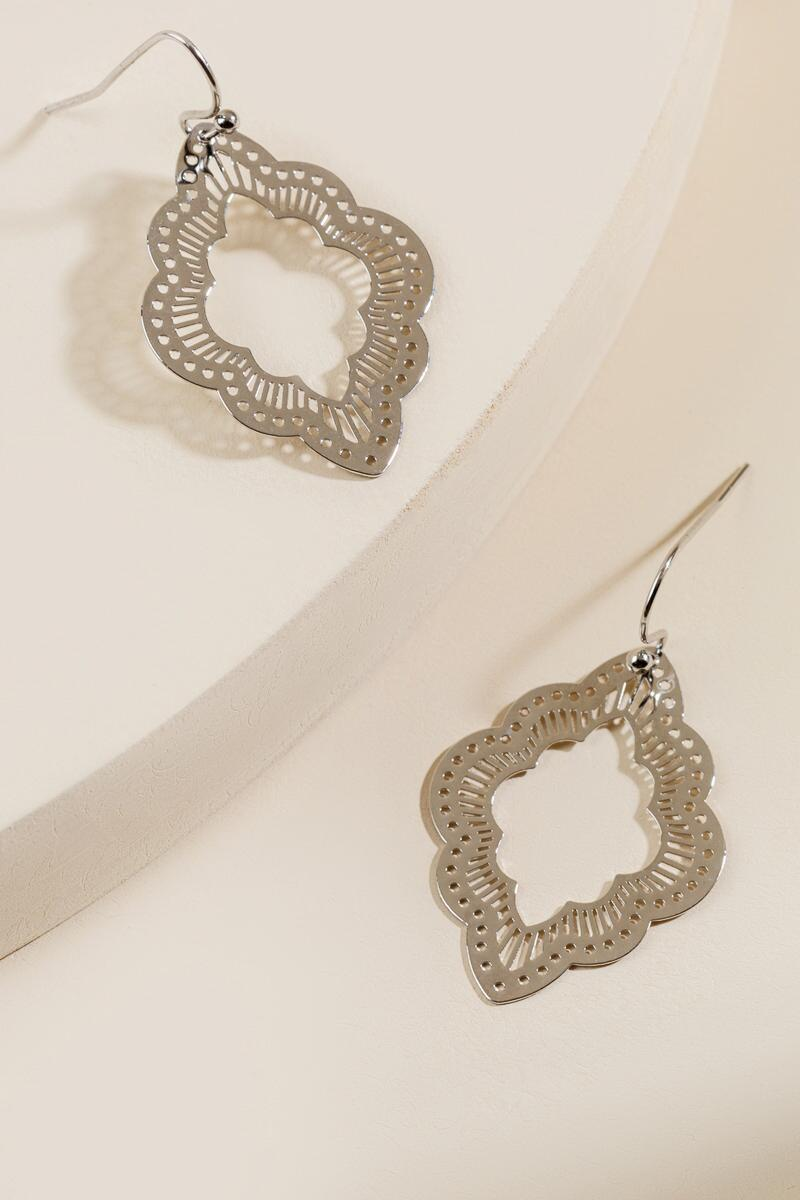 Giuliana Filigree Earring in Silver-  silv-cl