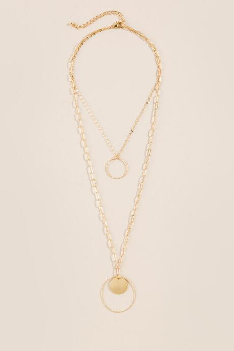 Angelina Layered Open Circle Necklace