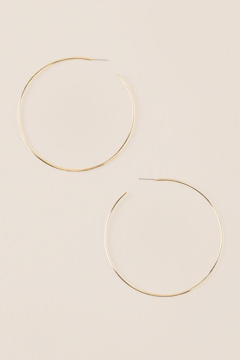 Melody Thin Hoop Earrings