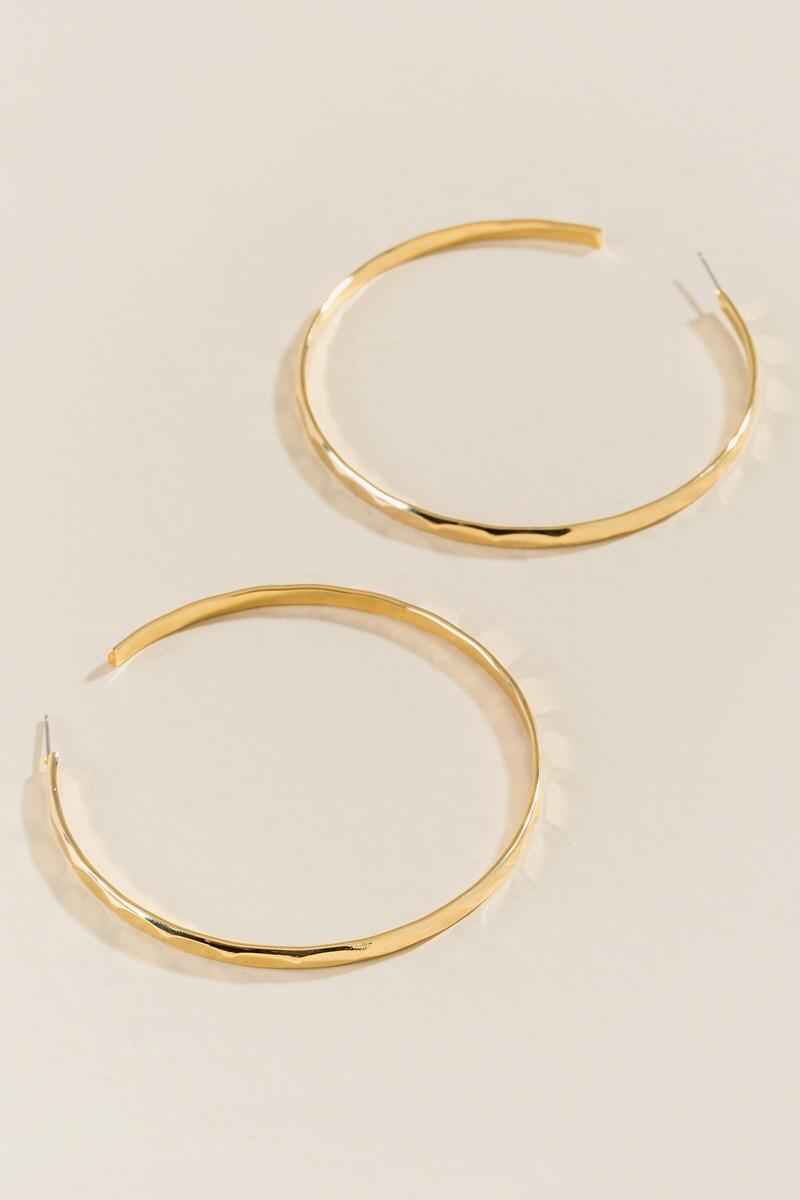 Coralie Textured Gold Hoops