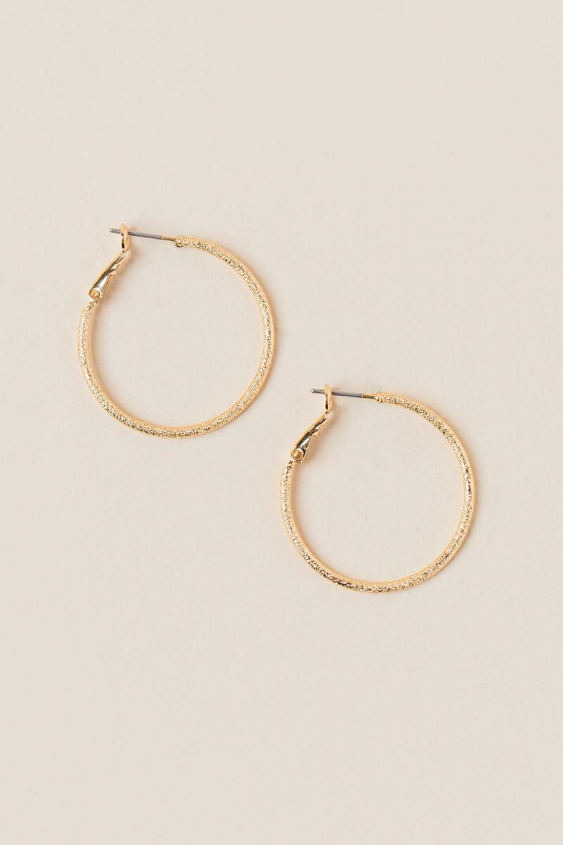 Helen Sparkle Cut Hoop Earring-  gold-cl