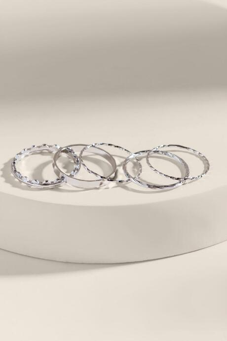 Adrianna Textured Ring Set