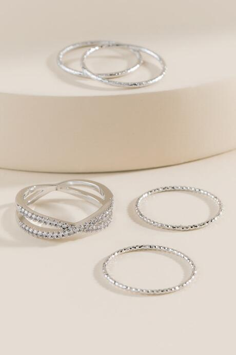 Carrie Silver Ring Set
