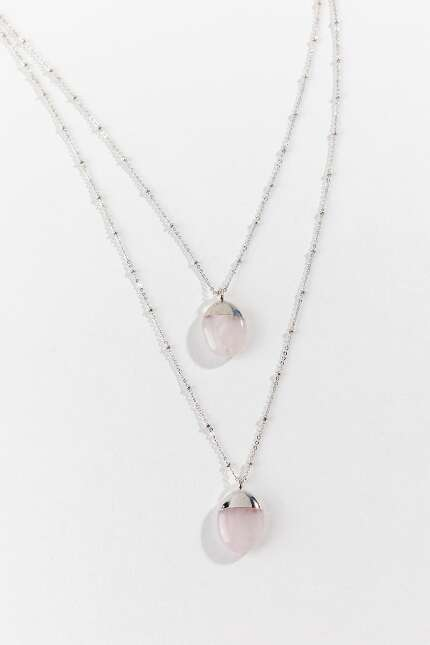 Hazel Rose Quartz Layered Necklace