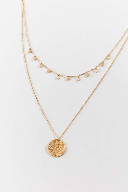 Cindy Coin Drop Layered Necklace