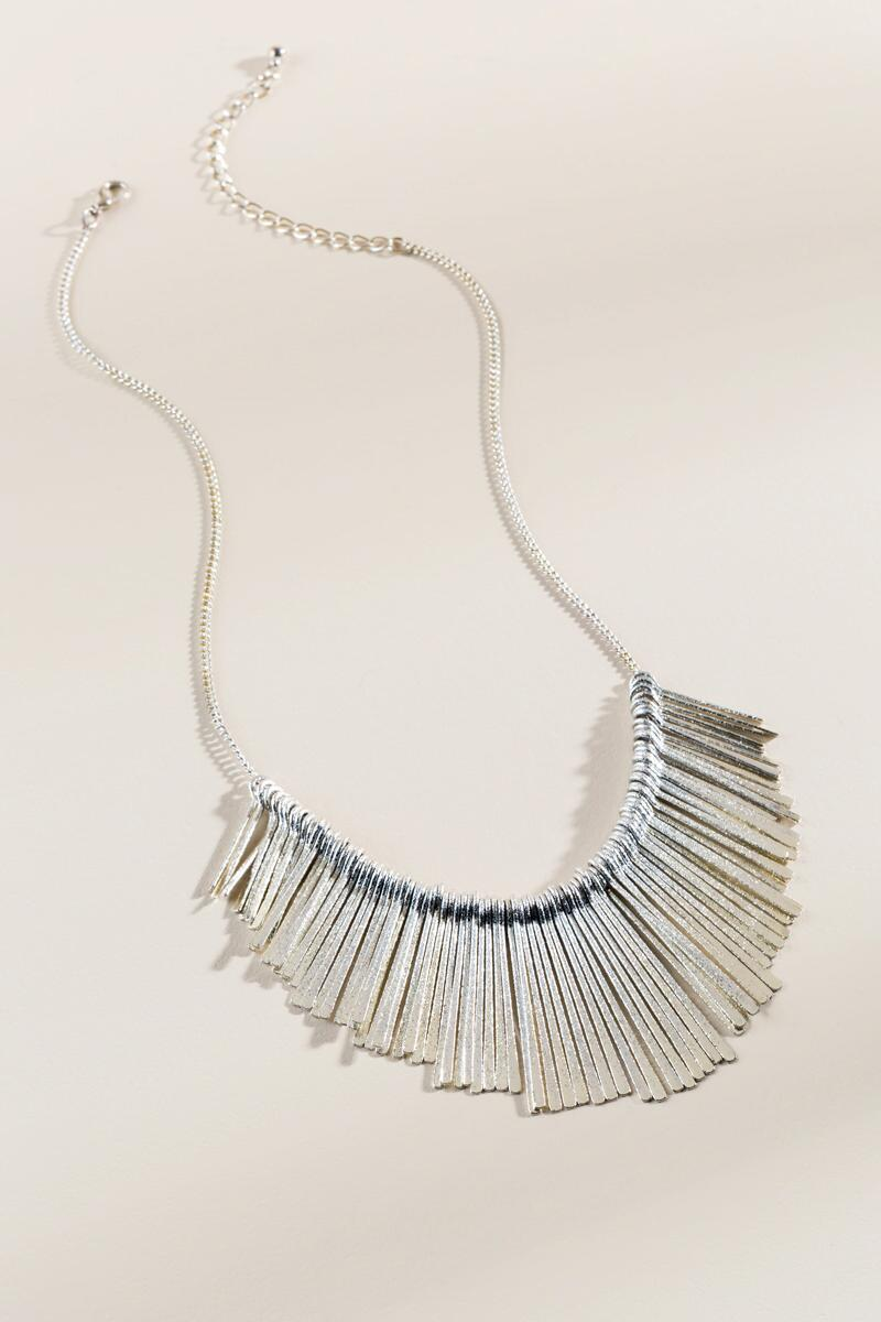 Mallory Fringe Sunburst Necklace