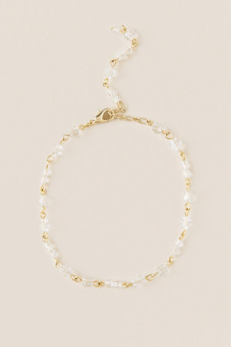 Curated Collection Crystal Bracelet in Gold-  gold-cl