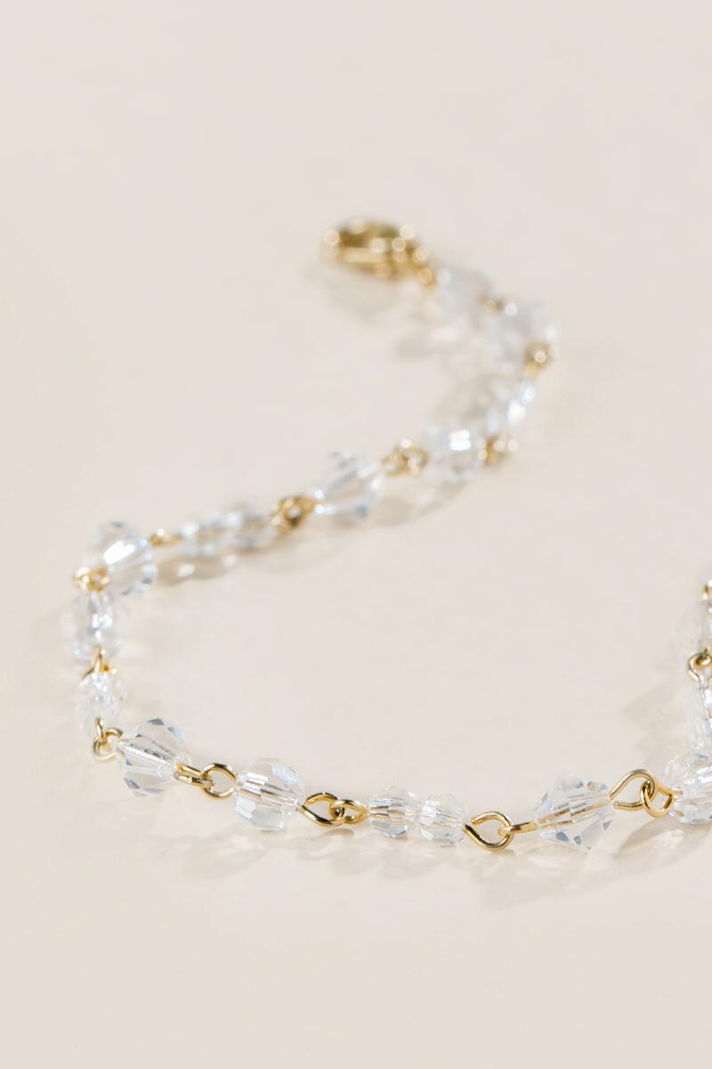 Curated Collection Crystal Bracelet in Gold-  gold-clalternate