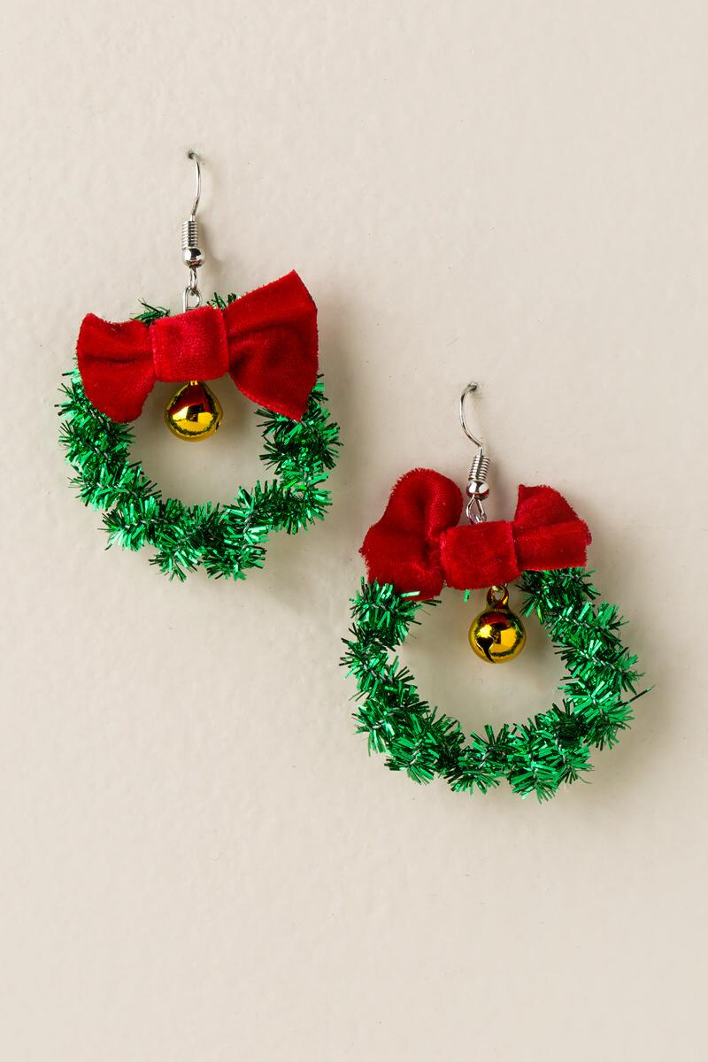 Wreath Bell Drop Earrings