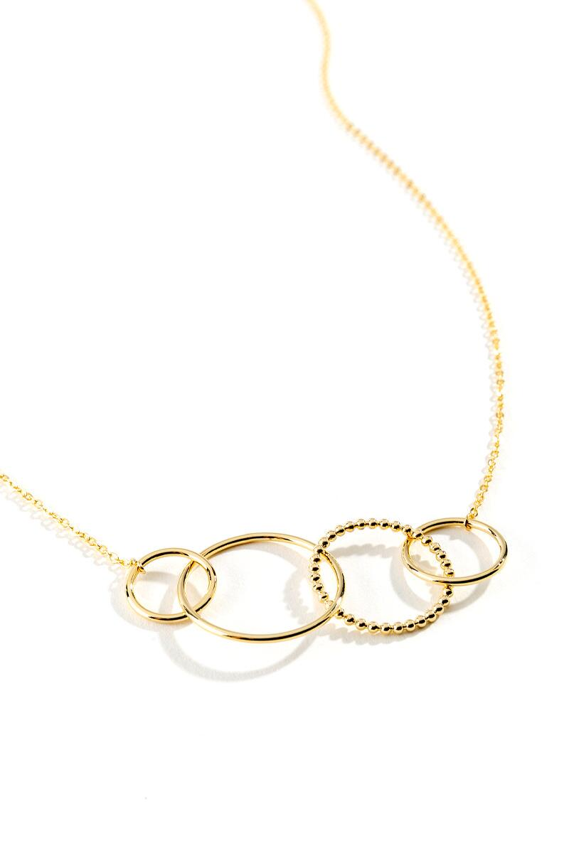 Melina Circle Statement Necklace- Gold 2