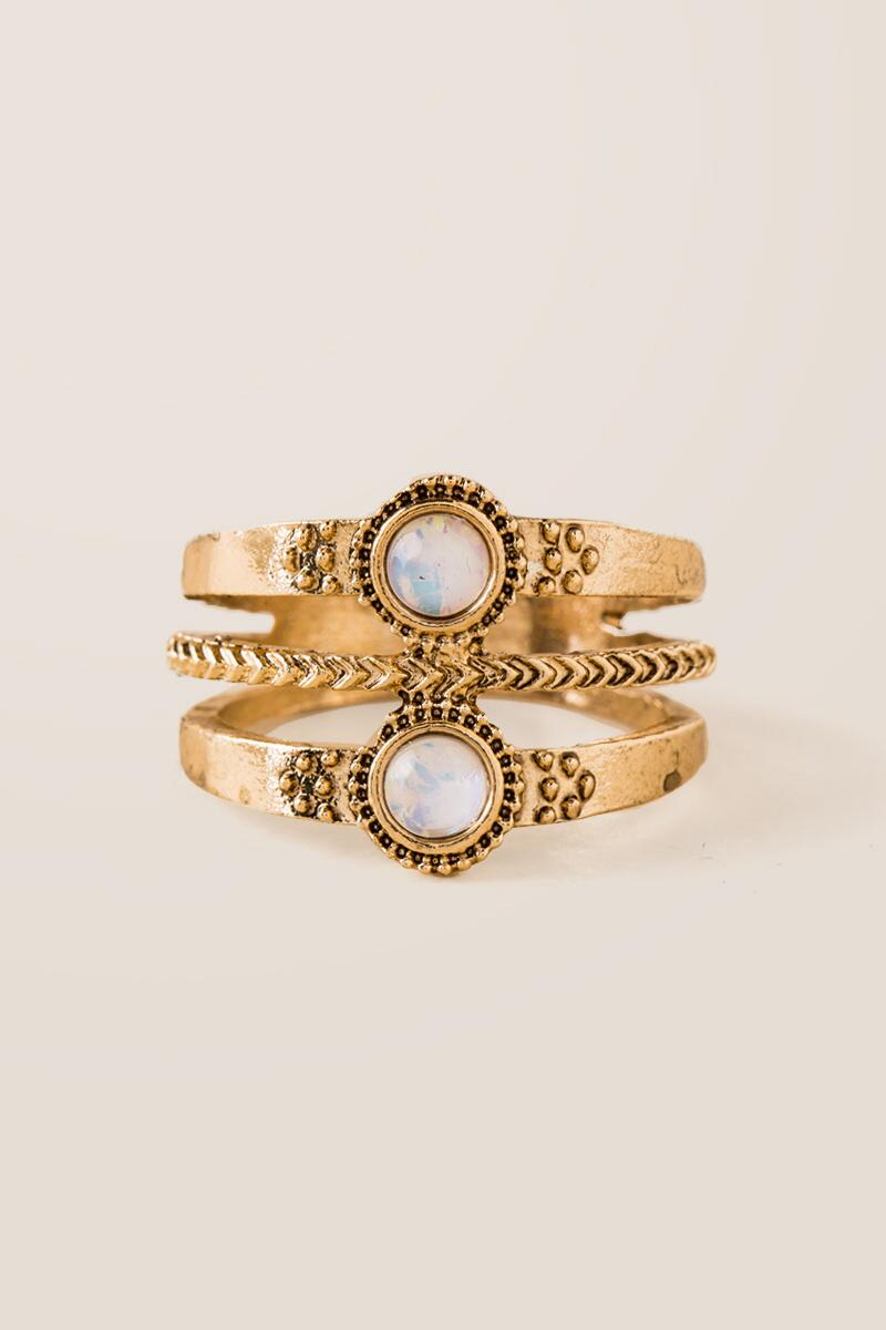 Heather Opal Antique Ring-  gold-cl