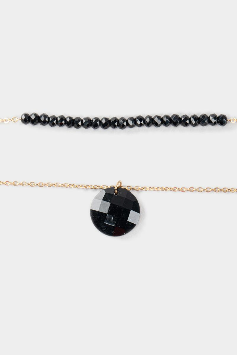 Wendy Beaded Layer Necklace- Black 3