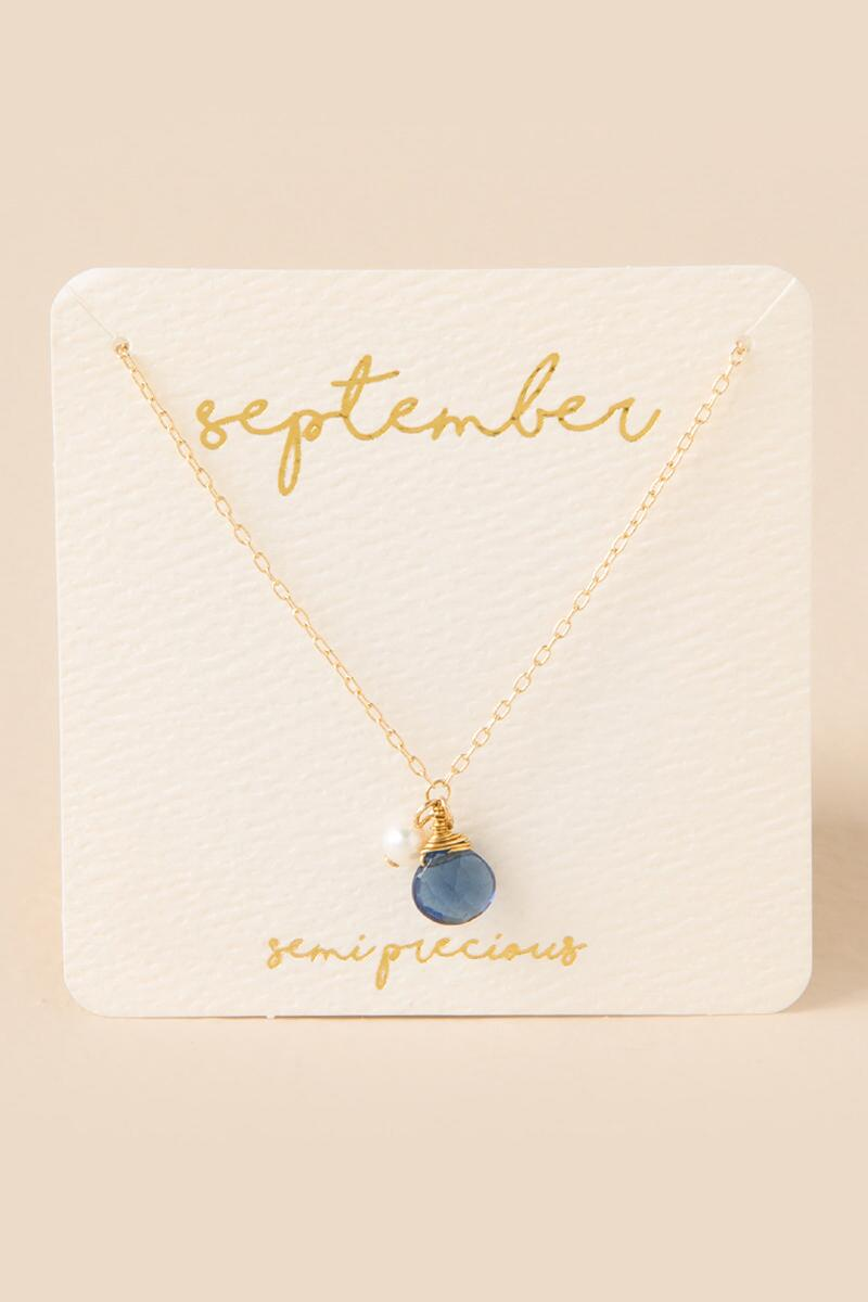September Birthstone Charm Pendant