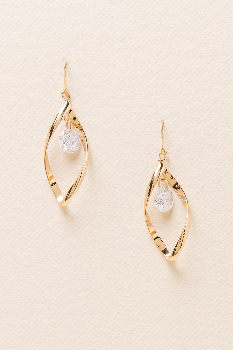 Anna Cubic Zirconia Drop Earring-  cry-cl