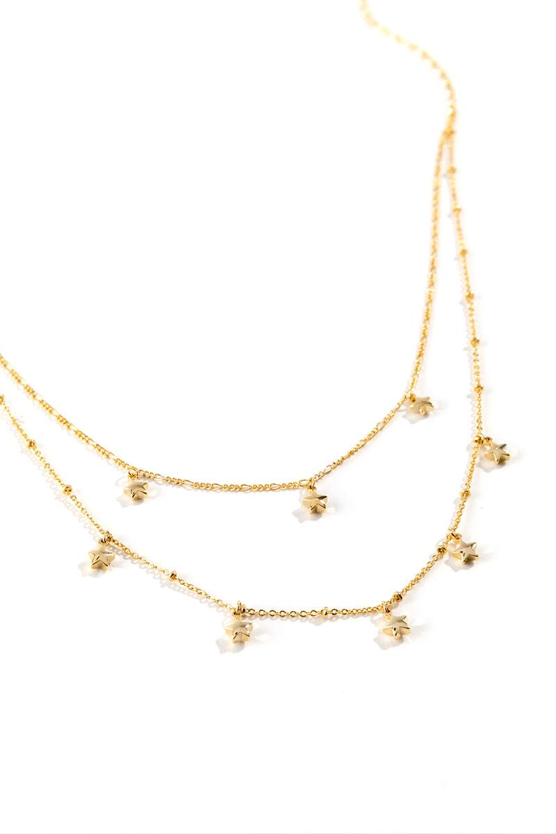 Tory Star Drops Layered Choker- Gold 2