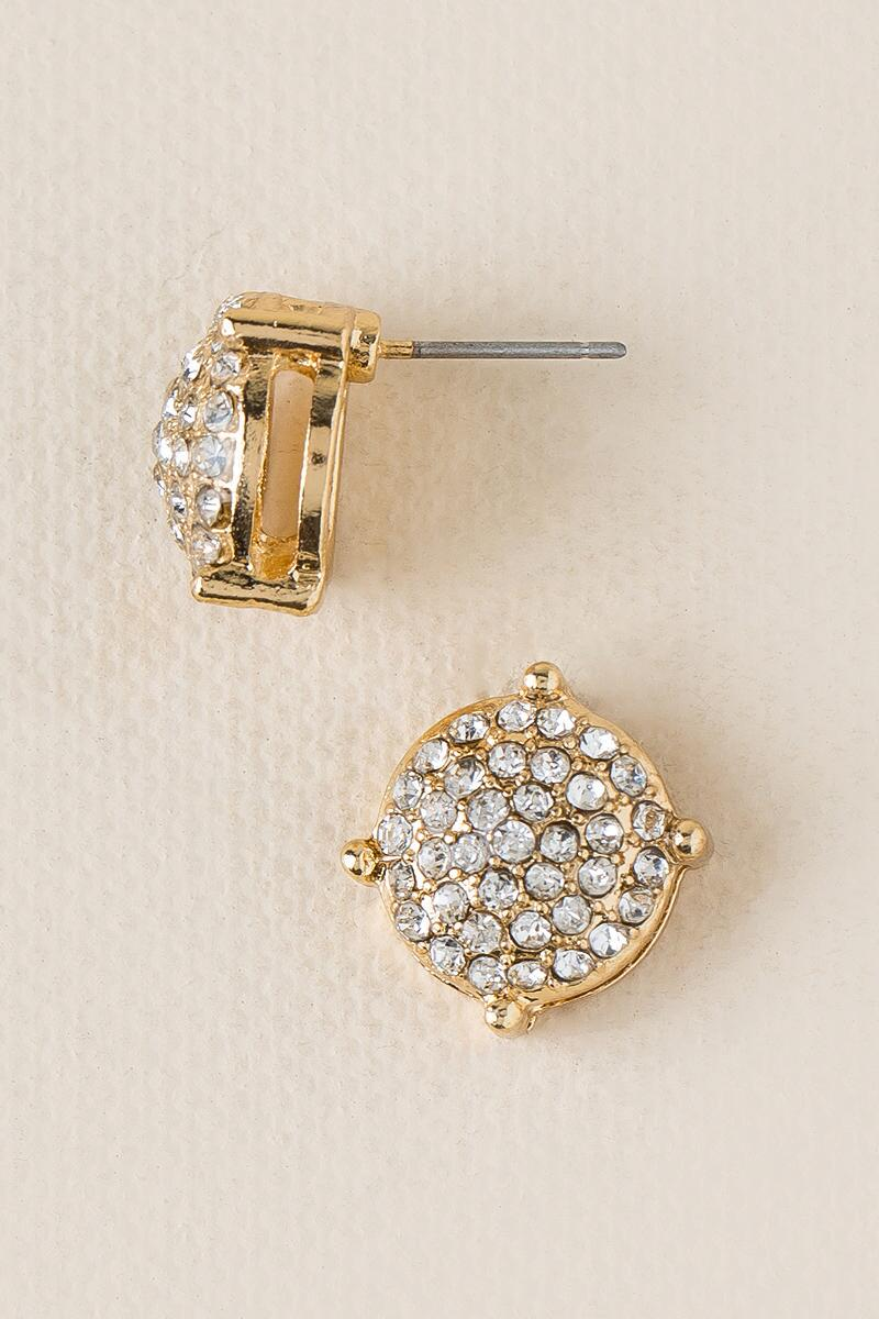 Loma Pavè Dome Stud-  cry-cl