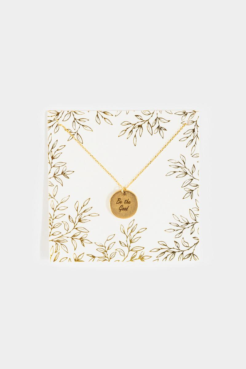 Be the Good Coin Pendant Necklace- Gold
