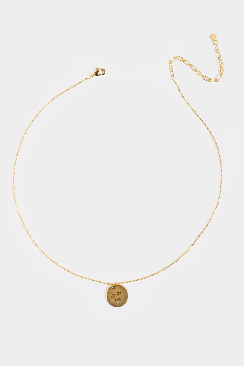 Be the Good Coin Pendant Necklace- Gold 3