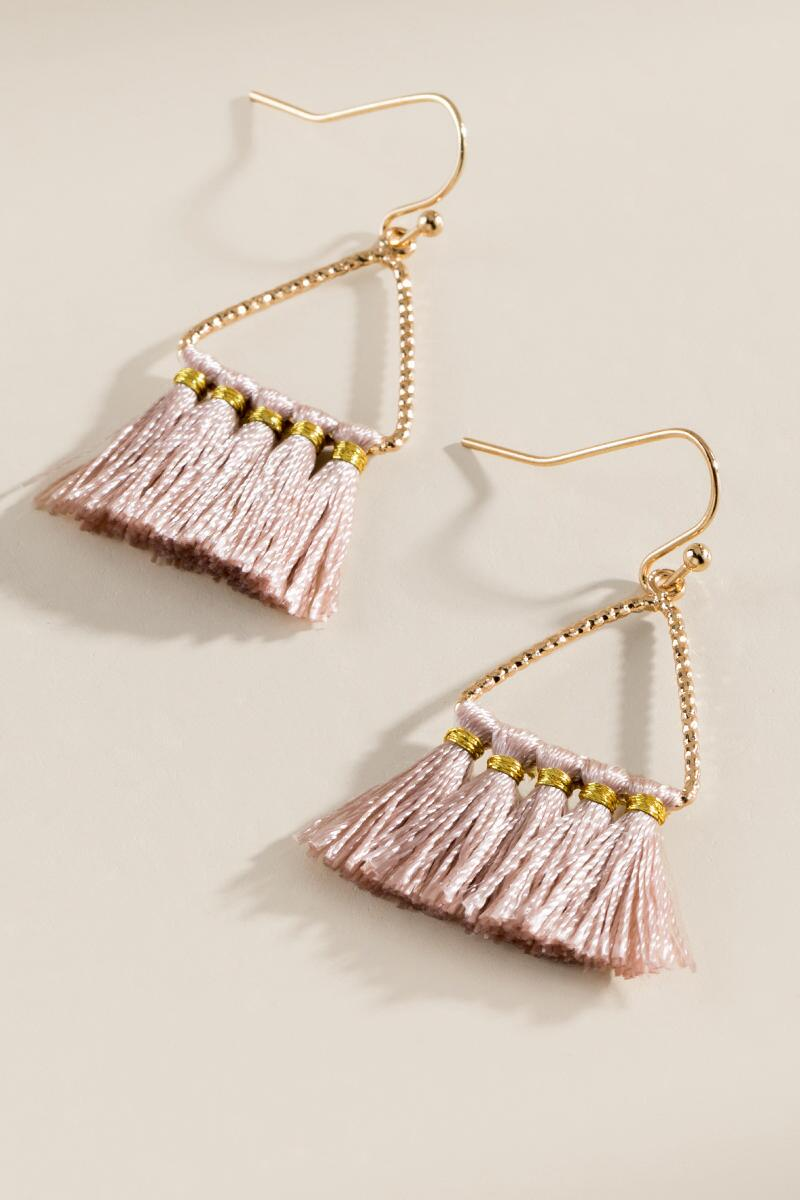 Hannah Triangle Tassel Earrings