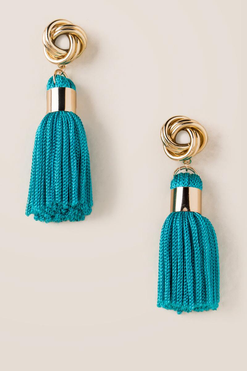 Austin Thread Tassel Earrings