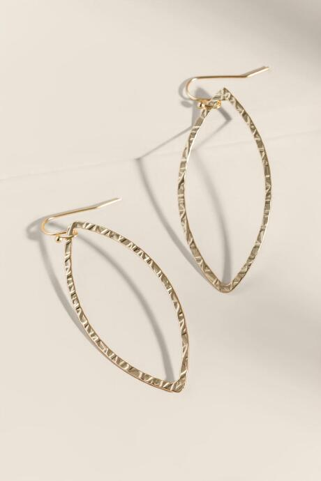 Abigail Open Marquis Drop Earrings - Gold