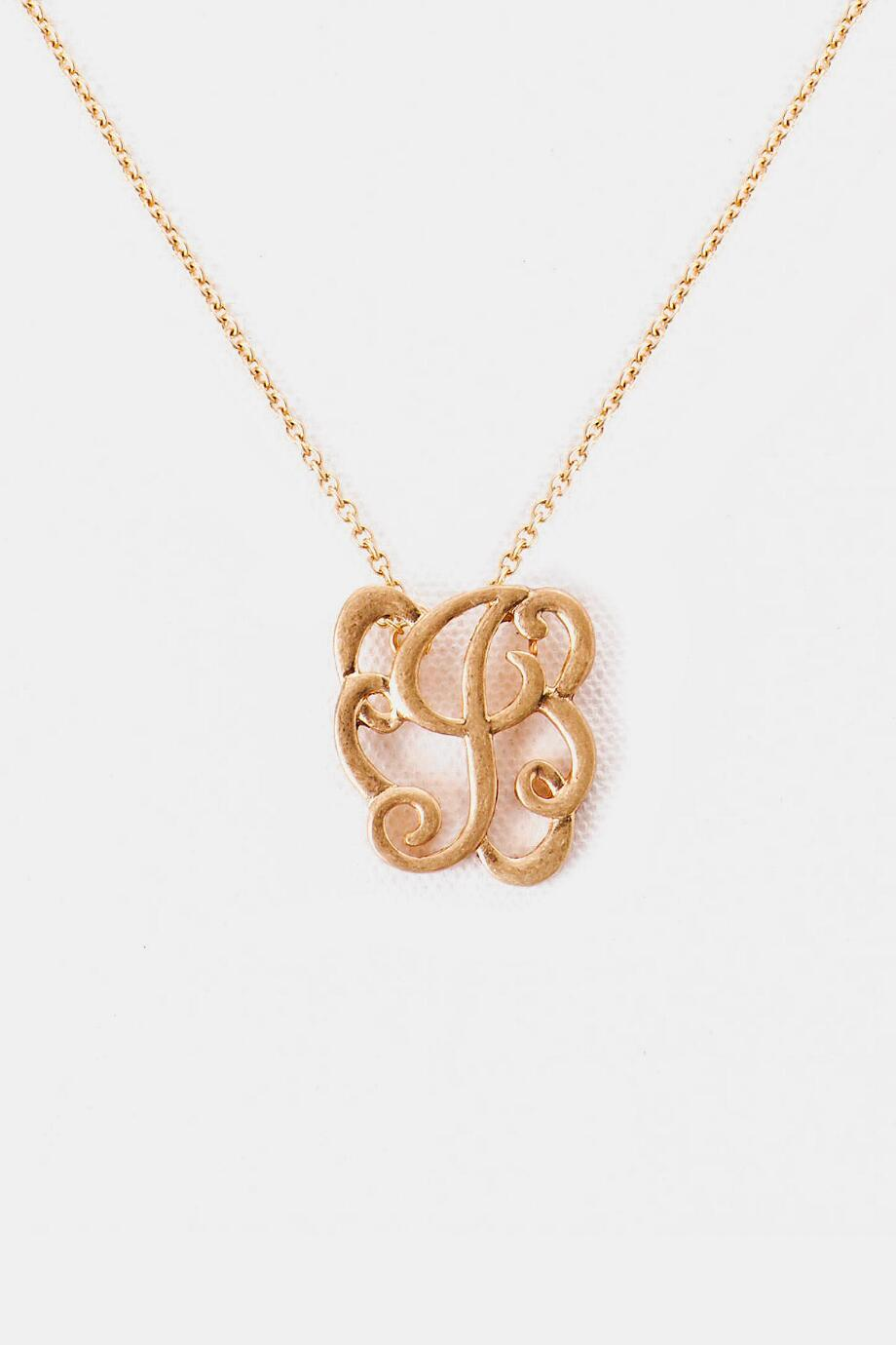 'J' Initial Brush Scroll Necklace