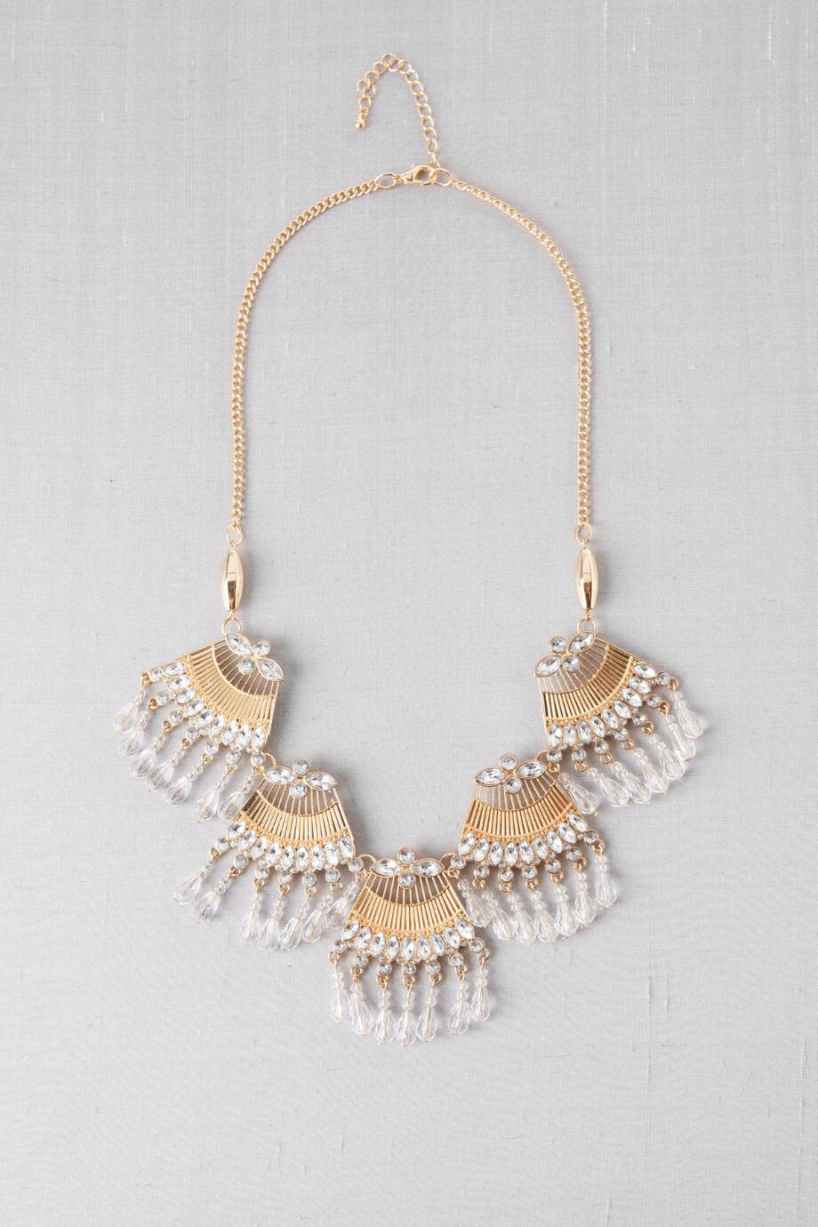 Carmona Crystal Fringe Necklace