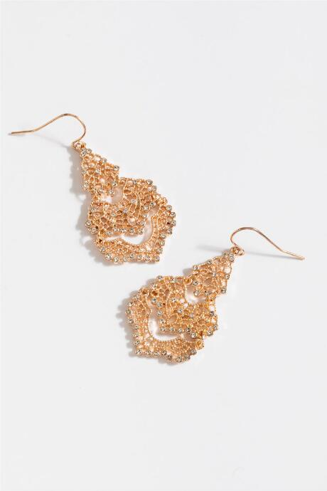 Chandelier earrings francescas shyla filigree chandelier earrings in rose gold mozeypictures Image collections