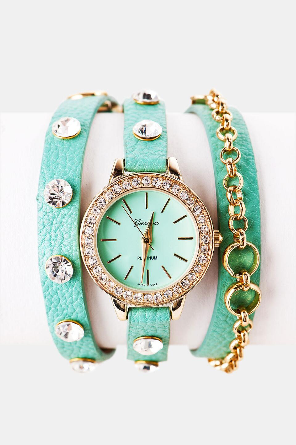 Warrington Wrap Watch-  mint-cl