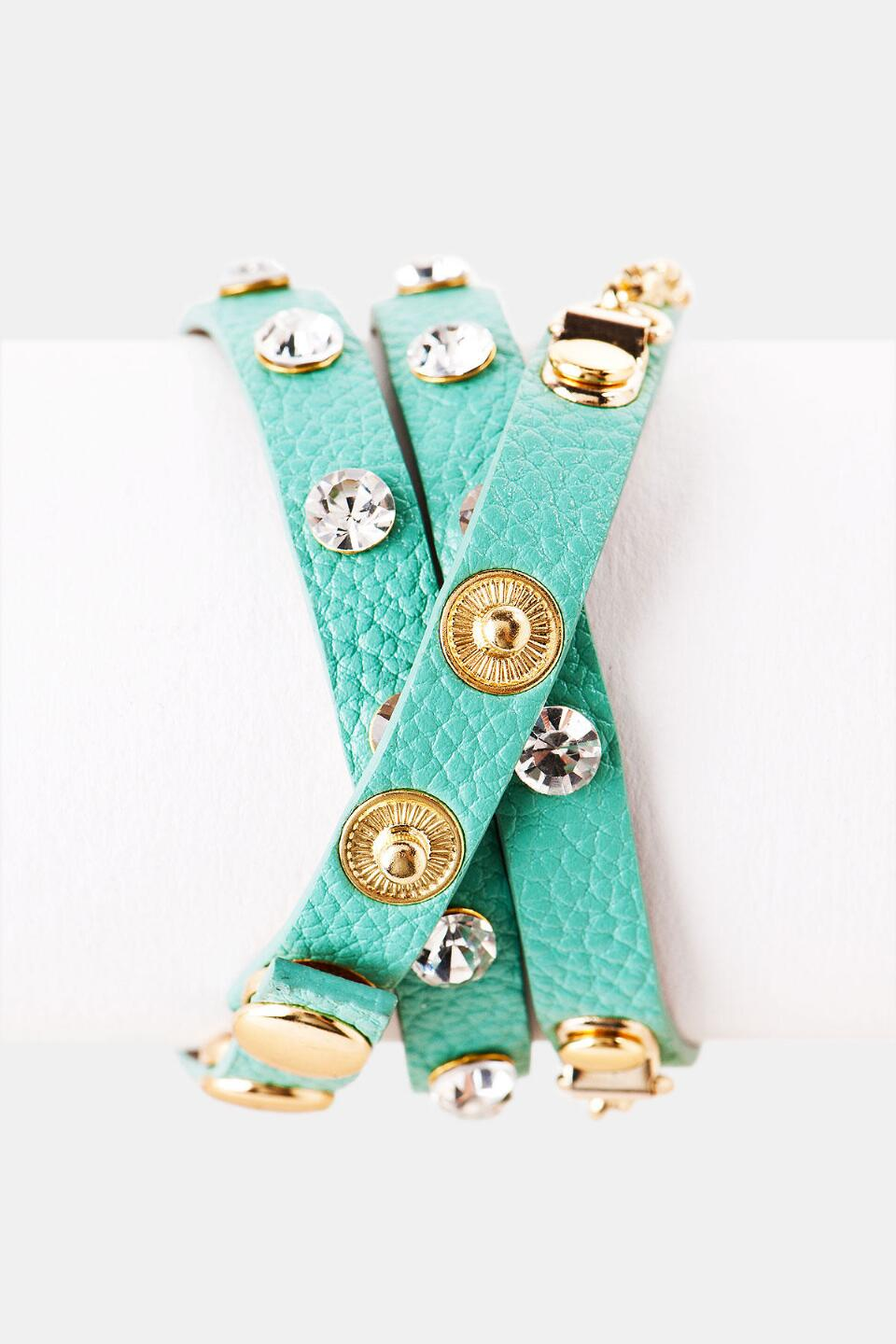 Warrington Wrap Watch-  mint-clback