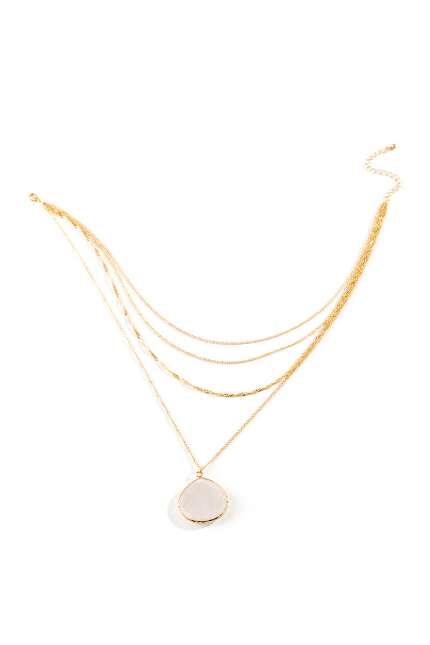 Ashanti Quartz Drop Multi-Strand Necklace