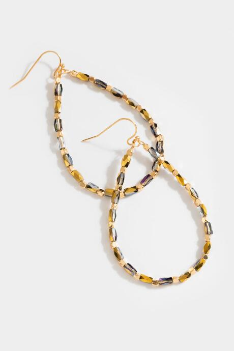 Tampa Beaded Drop Earrings - Champagne