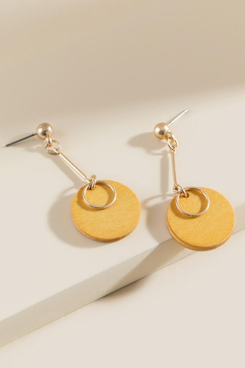 Elle Geo Linear Earrings- Marigold