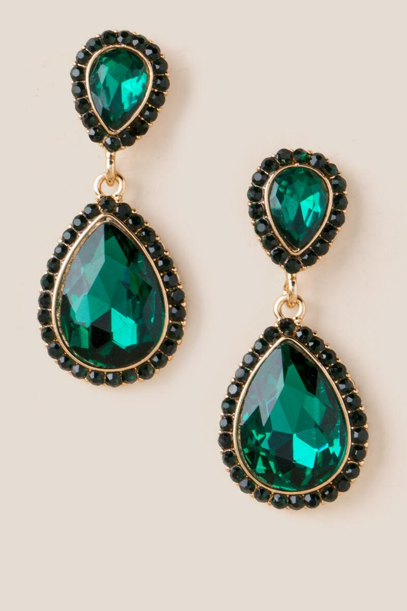 Miriam Teardrop Earrings In Emerald
