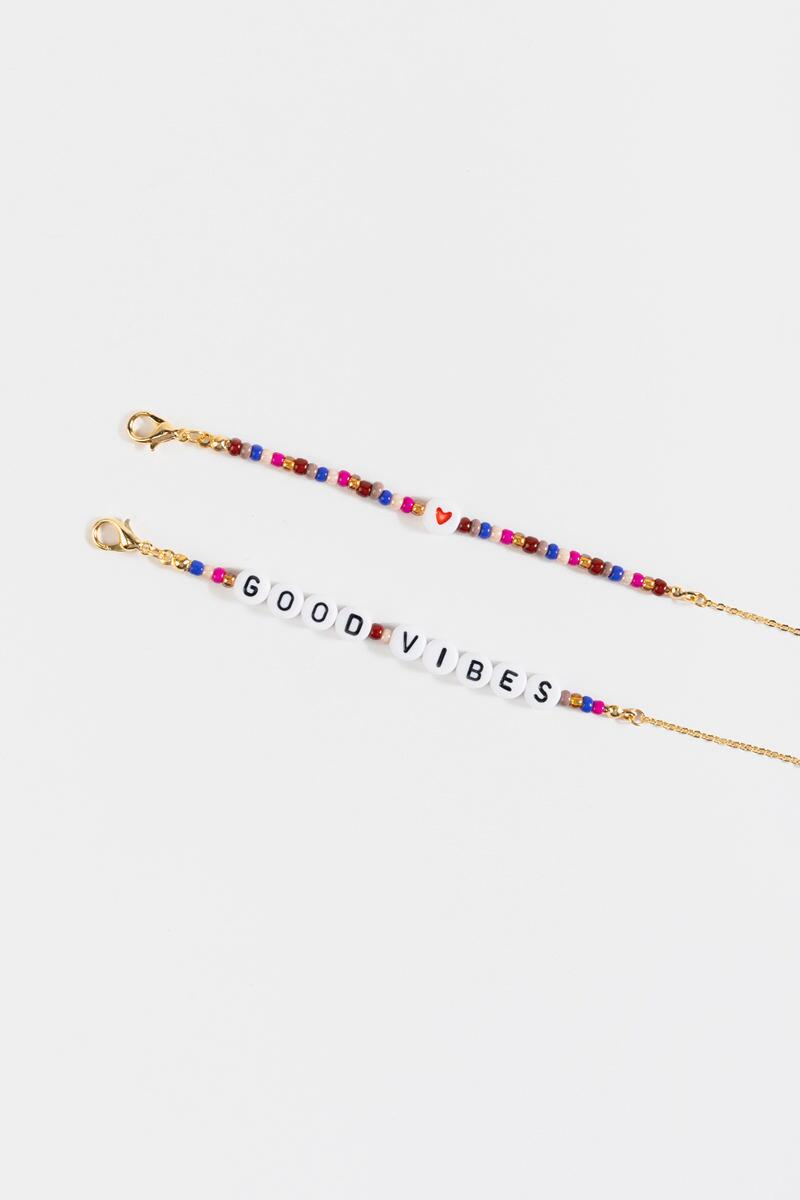 Good Vibes Face Mask Chain- Multi 3