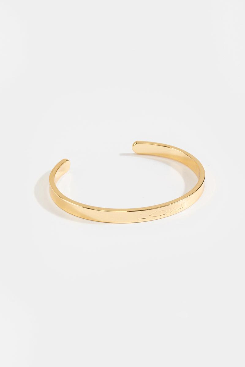Pause Engraved Cuff-  gold-cl