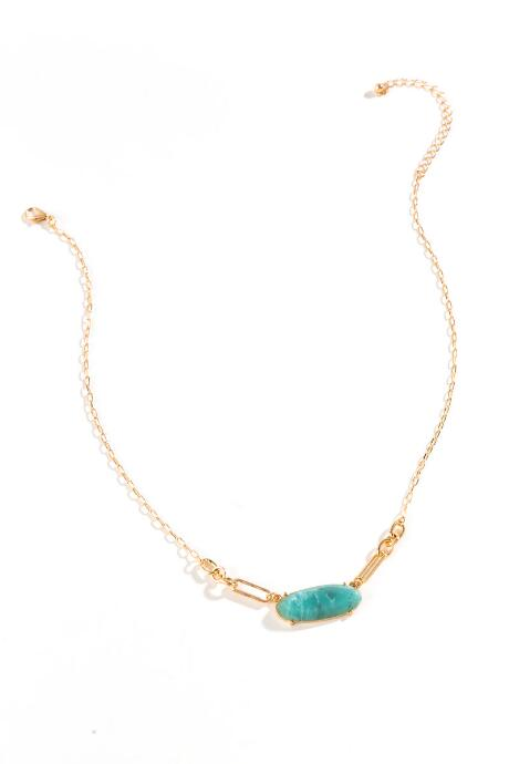 Gianna Oval Pendant Necklace