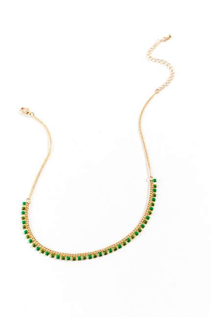 Kayla Beaded Station Necklace