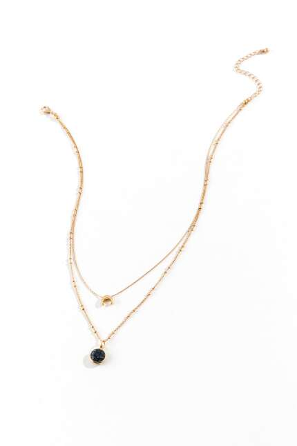 Fiona Crescent Layered Necklace
