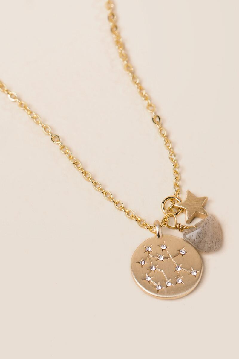 amorium gold gemini necklace rose in