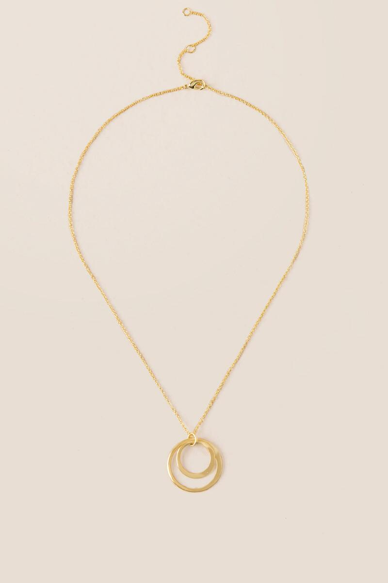 Audra 20k Pendant Necklace-  gold-cl