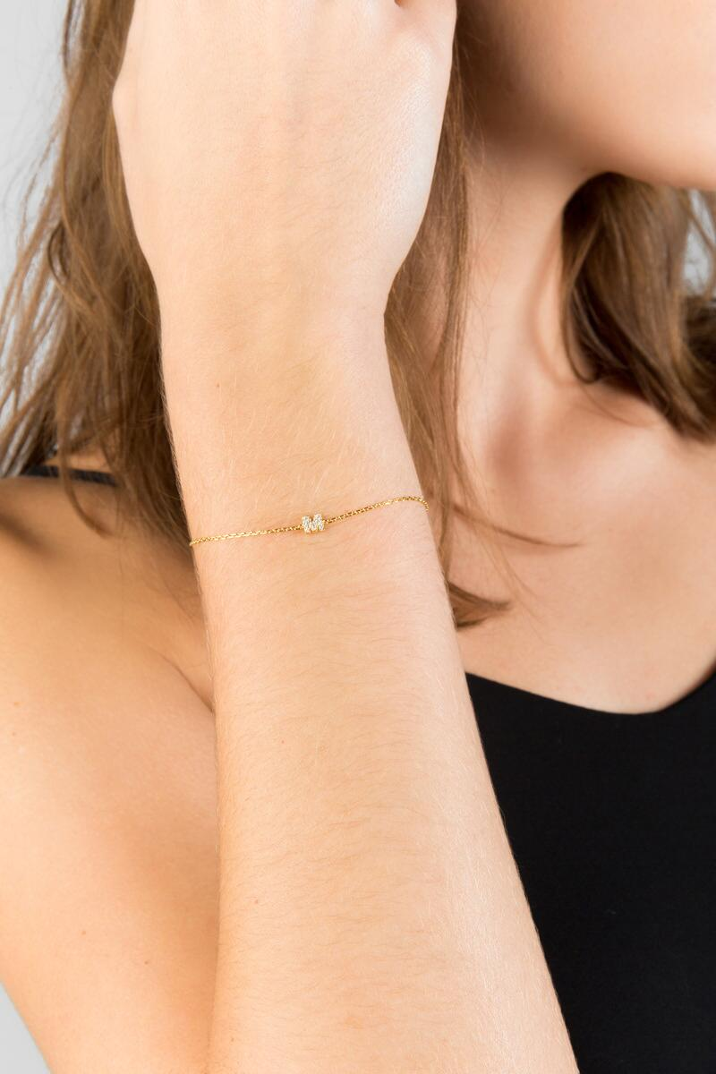 'M' Initial Delicate Bracelet-  cry-clmodel